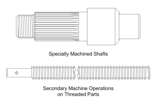 Machined Shafts & Threaded Rod
