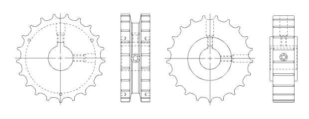 S800 Series Conveyor Style Table Top Sprockets