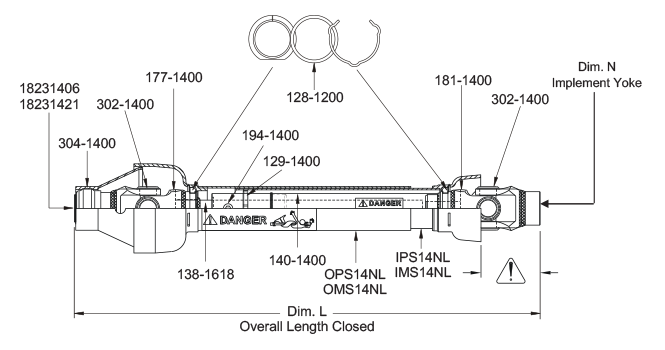 Parts Drawing For TR14ND And TR14ND-P