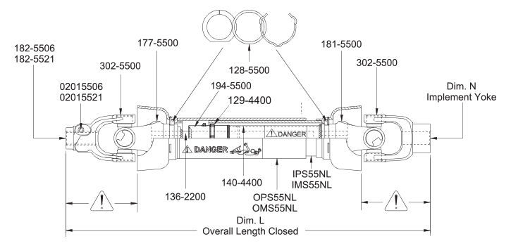 Parts Drawing For TR55ND And TR55ND-P
